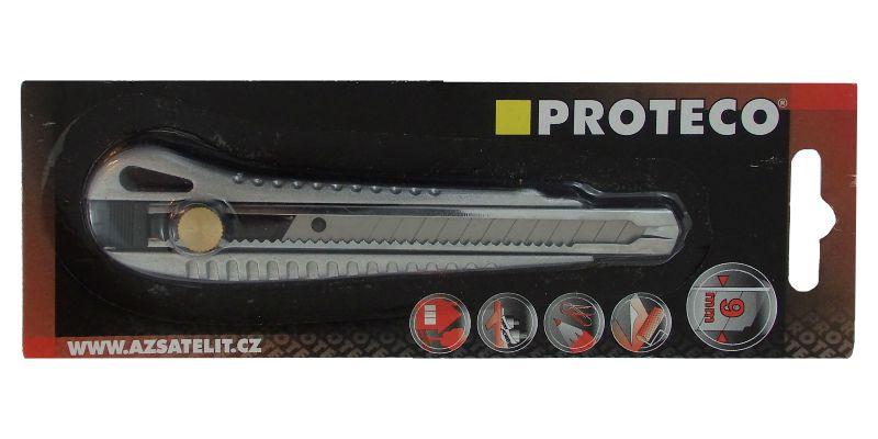 Proteco Snap Off Knife 9mm Aluminium Body