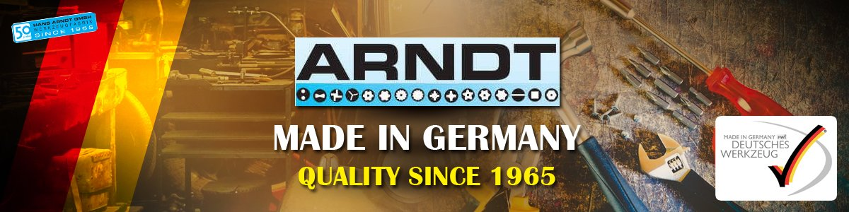 Quality Tools ARNDT Made in Germany Baner