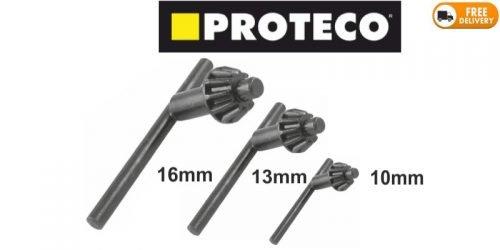 Proteco Drill Chuck Key Black
