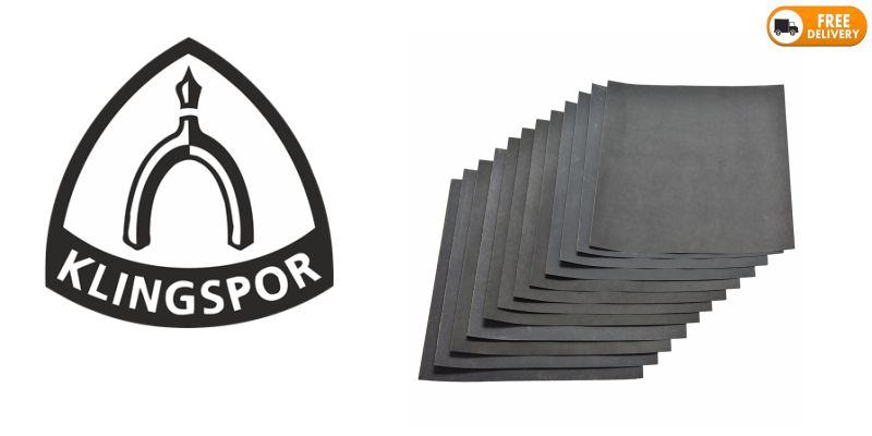 Sheets of Black Dry Sandpaper